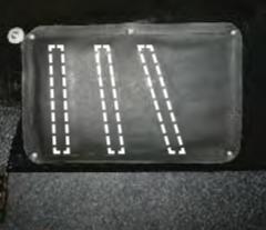 Sensoren für die Beinhaltung am Reitsimulator